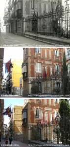 Calle del caballero en distintas fechas