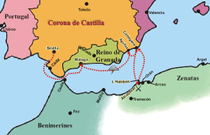 Primera campaña de Pero Niño contra los piratas. (Fuente: Wikipedia)