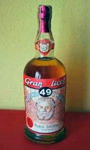 """El eslogan publicitario era """"Beba y compruebe, Gran Licor 49"""""""