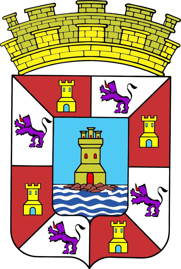Escudo de la ciudad de Cartagena, versión no idéntica a la oficial.